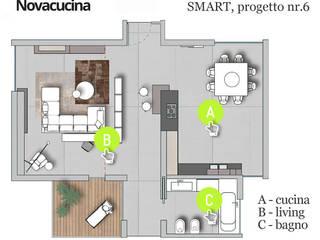 Pianta progetto SMART nr.6:  in stile  di Nova Cucina