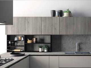 Ambiente Cucina (A) – dettaglio libreria: Cucina in stile  di Nova Cucina