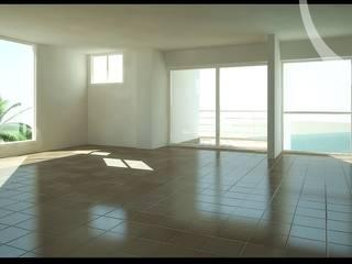 Imagenes 3D (Render) proyecto de Arquitectura: Residencias Cabo Codera. Salas de estilo minimalista de Grupo JOV Arquitectos Minimalista Mármol