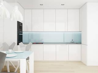 Mieszkanie, pow. 72 m2, Osiedle Pięciu Mostów, Gdańsk Eklektyczna kuchnia od 3miasto design Eklektyczny