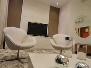 Apartamento Nunes Salas de estar modernas por L N arquitetos Moderno
