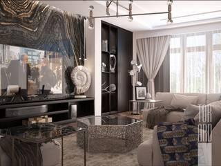 Дом на Трубецкой: Гостиная в . Автор – Архитектурное Бюро 'Тор-Ард'