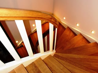 Classic style corridor, hallway and stairs by lifestyle-treppen.de Classic Wood Wood effect