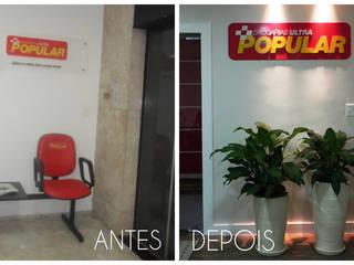 Espaces de bureaux minimalistes par É! Arquitetura e Design Minimaliste