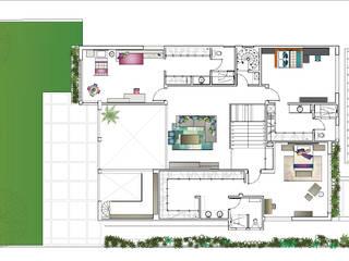 Plano planta alta:  de estilo  por MARIANGEL COGHLAN