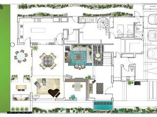 Plano planta baja de MARIANGEL COGHLAN Moderno