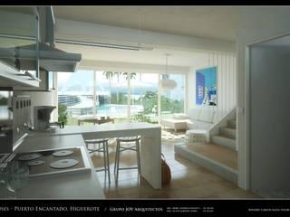 RESIDENCIAS COSTA BLANCA Pasillos, vestíbulos y escaleras de estilo minimalista de Grupo JOV Arquitectos Minimalista