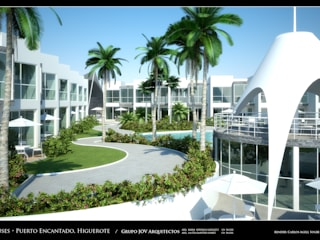 RESIDENCIAS COSTA BLANCA Jardines de estilo minimalista de Grupo JOV Arquitectos Minimalista