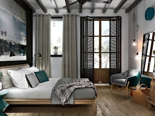 ONE STUDIO Mediterranean style bedroom