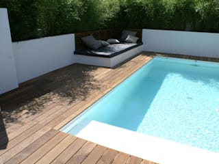 Projet Biarritz Californie: Jardin de style de style Moderne par Atelier 10
