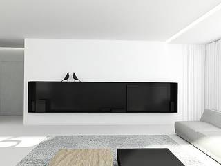 PURE Minimalistyczny salon od PROSTO architekci Minimalistyczny