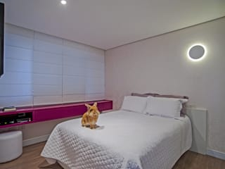 Minimalistische slaapkamers van Studio Boscardin.Corsi Arquitetura Minimalistisch