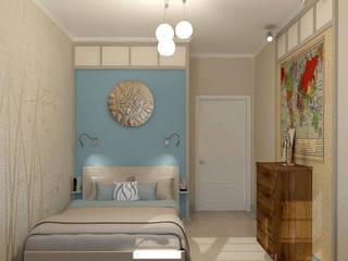 Комната подростка.Вид на кровать: Детские комнаты в . Автор – INGAART