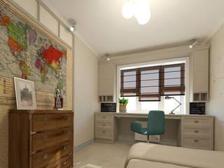 Комната подростка.Вид на рабочую зону: Детские комнаты в . Автор – INGAART