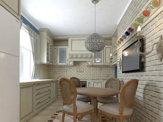 Blue inspiration Кухни в эклектичном стиле от INGAART Эклектичный