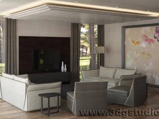Salas de estar modernas por 3dgstudio Moderno