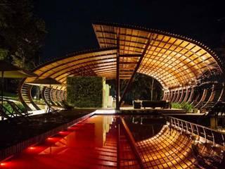 Mirante do Gavião - Amazon Lodge: Hotéis  por Atelier O'Reilly Architecture & Partners,Campestre Madeira Efeito de madeira