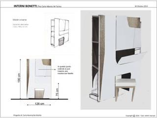 Moderne Arbeitszimmer von Interni Bonetti Modern