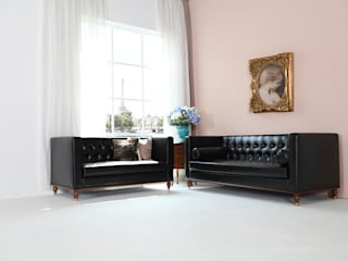 STYLE-K Living roomSofas & armchairs Fake Leather Black