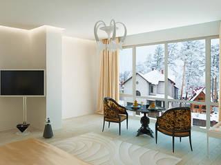 Спальня в таунхаусе, г.Барнаул: Спальни в . Автор – Хауспрофи