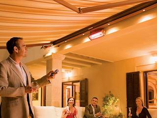 Awnings with LED lights:   von Eden Verandas