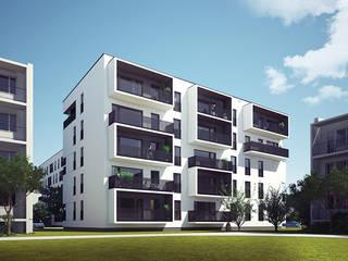 Casas de estilo  por PROSTO architekci