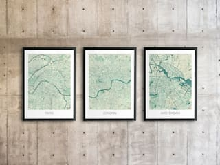 Paris, London and Amsterdam posters.:  Artwork by cityartposters