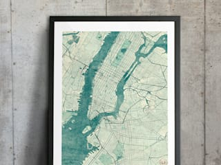 New York poster.:  Artwork by cityartposters