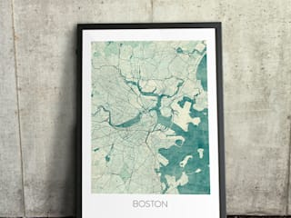 Boston poster.:  Artwork by cityartposters