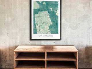 San Francisco poster.: scandinavian  by cityartposters, Scandinavian