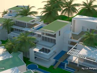 Śródziemnomorskie domy od Lis Melgarejo Arquitectura Śródziemnomorski