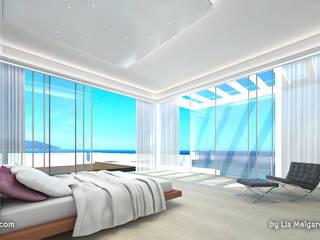 Śródziemnomorska sypialnia od Lis Melgarejo Arquitectura Śródziemnomorski