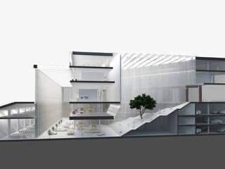 ARCHI OPENSPACE od PROSTO architekci Minimalistyczny