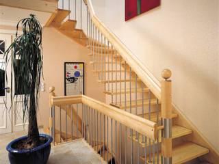 Modern corridor, hallway & stairs by lifestyle-treppen.de Modern