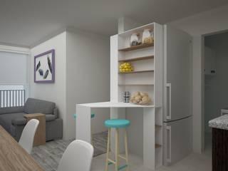 Modern kitchen by Teorema Arquitectura Modern