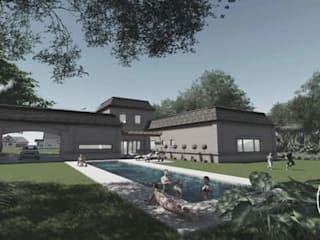 Casa XL:  de estilo  por TR3S ARQUITECTOS