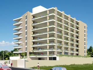 CONJUNTO RESIDENCIAL ABISAI SUITES Casas modernas de Grupo JOV Arquitectos Moderno