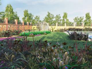 Jardines de estilo  por GRNT3D,