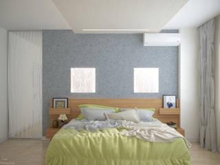 Moderne Schlafzimmer von Студия интерьерного дизайна happy.design Modern