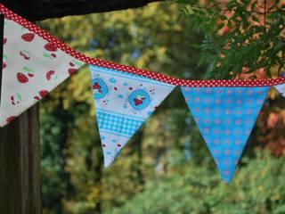 guirlande décorative de fanions pour chambre d'enfant les petits poissons verts Chambre d'enfantsAccessoires & décorations Coton