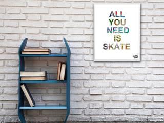 Birthday Gift Ideas for Skater Boyfriend with skateboarding illustration skate-home Habitaciones infantilesAccesorios y decoración