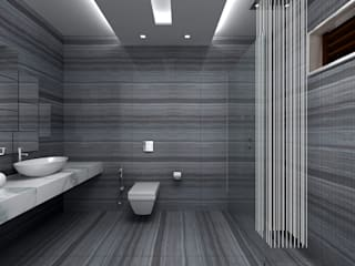RESIDENTIAL INTERIOR, MYSORE. (www.depanache.in):  Bathroom by De Panache  - Interior Architects