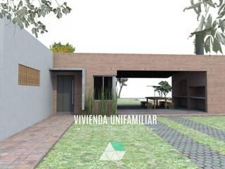Vivienda Unifamiliar Arroyo leyes: Casas unifamiliares de estilo  por Küp Arq