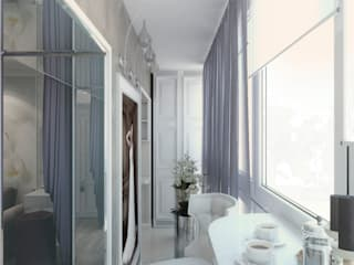 Balcones y terrazas de estilo clásico de Студия дизайна интерьера Маши Марченко Clásico