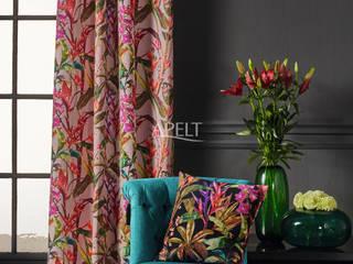 Floral Living - Vorhang und Kissen: moderne Wohnzimmer von APELT STOFFE