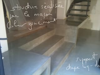 Escaliers, béton ciré:  de style  par Artlily