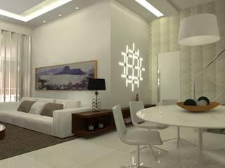 Cobertura Recreio Salas de estar ecléticas por L N arquitetos Eclético