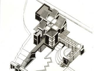 Axonometria del proyecto. Casas de estilo tropical de OMAR SEIJAS, ARQUITECTO Tropical