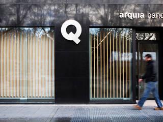 Abrir la Caja, PRIMER PREMIO ARQUIA, CAJA DE ARQUITECTOS, VALLADOLID: Oficinas y Tiendas de estilo  de Angel Melero Hurtado