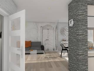 Mały Apartament i Tajemnicze Drzwi.: styl , w kategorii  zaprojektowany przez Wizja Wnętrza - projekty i aranżacje